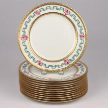 (12pc) ROYAL DOULTON / TIFFANY DESSERT PLATES