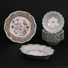 (10pc) MISC. HEREND & FRENCH PORCELAIN