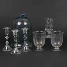 (7pc) HAND-BLOWN GLASS