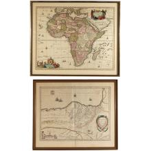 (2pc) EARLY MAPS OF AFRICA & SPAIN