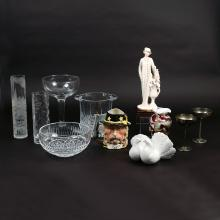 (11pc) MISC. GLASS & CERAMICS