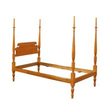 FEDERAL TALL TESTER SINGLE MAPLE BEDSTEAD