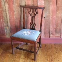 PERIOD AMERICAN CHIPPENDALE SIDE CHAIR