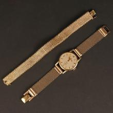 TWO YELLOW GOLD WRISTWATCHES