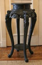 CARVED CHINESE TABOURET