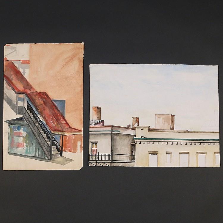 (2pc) BARBARA ADRIAN - NYC ARCHITECTURE