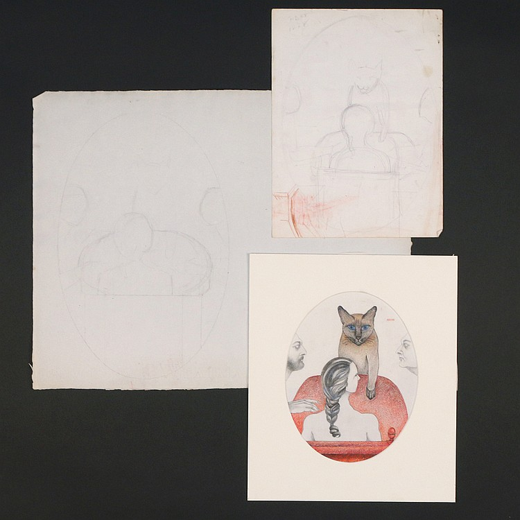 (3pc) BARBARA ADRIAN - THE CAT PARTY