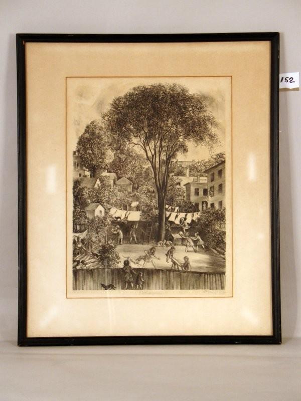 AGNES TAIT (GABRIELLE MC NULTY) (B. 1897--) LITHOGRAPH,