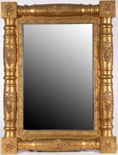 GILT HALF SPINDLE WALL MIRROR