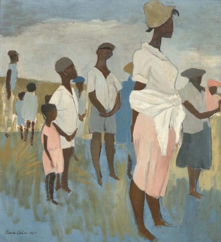 (2pc) OLIVIA KAHN ( American, 1920-)