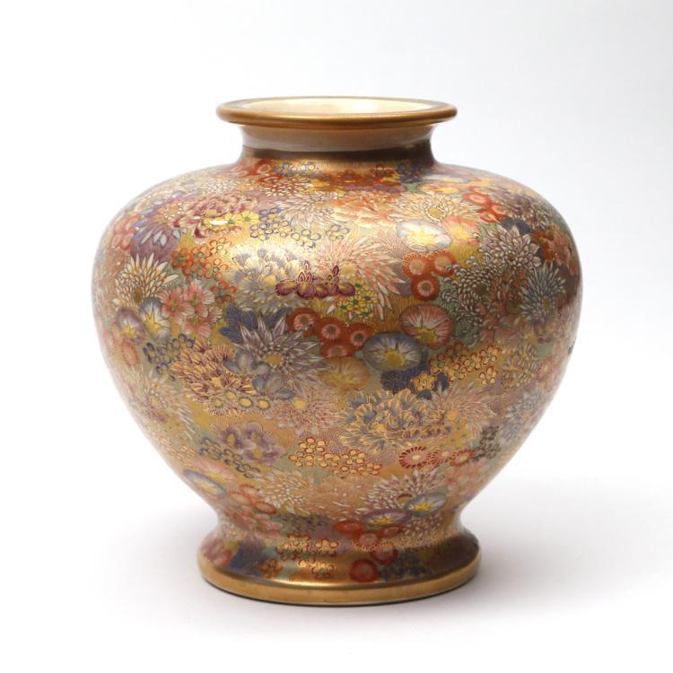 Satsuma Mille Fleur Vase