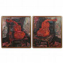 (2pc) CAI JIN (Chinese, b. 1965-)