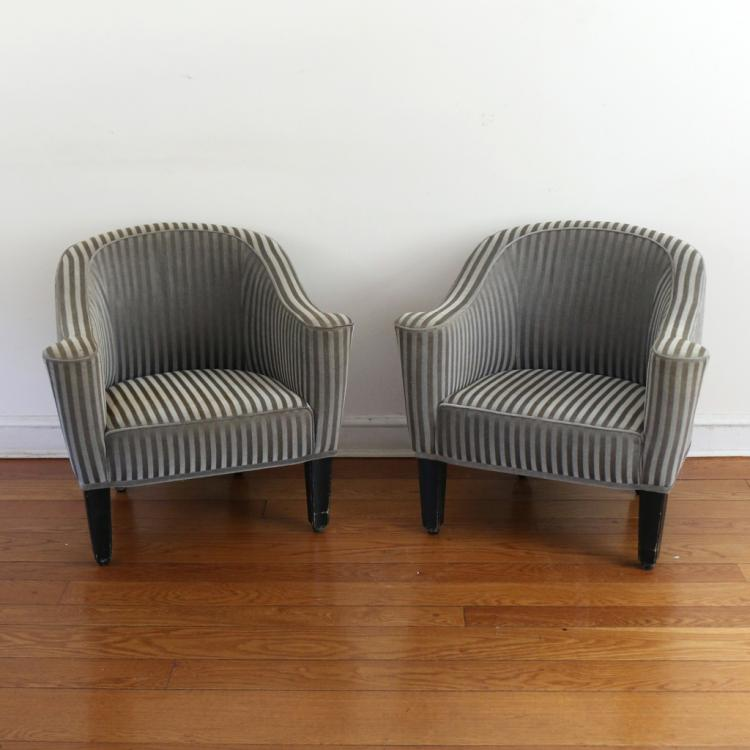 PAIR JOSEF HOFFMANN FOR WITTMANN CLUB CHAIRS