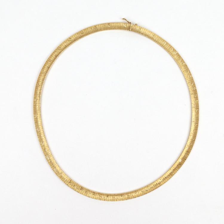 CONTEMPORARY 18k GOLD NECKLACE