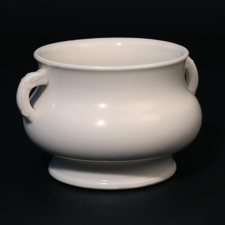CHINESE BLANC-GLAZED PORCELAIN CENSER