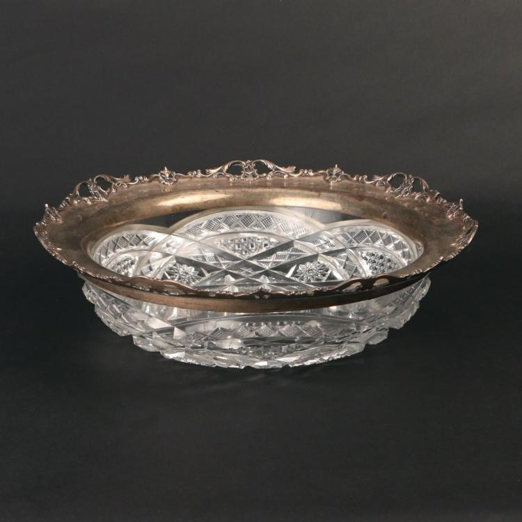 BRILLIANT PERIOD CUT CRYSTAL BOWL