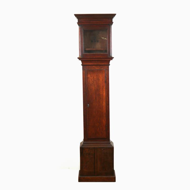 QUEEN ANNE OAK TALL CLOCK CASE