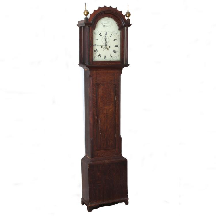LATE FEDERAL TALL CASE CLOCK