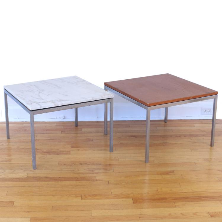 (2pc) FLORENCE KNOLL OCCASIONAL TABLES