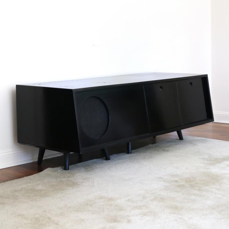 MID CENTURY ONE-SPEAKER CONSOLE UNIT