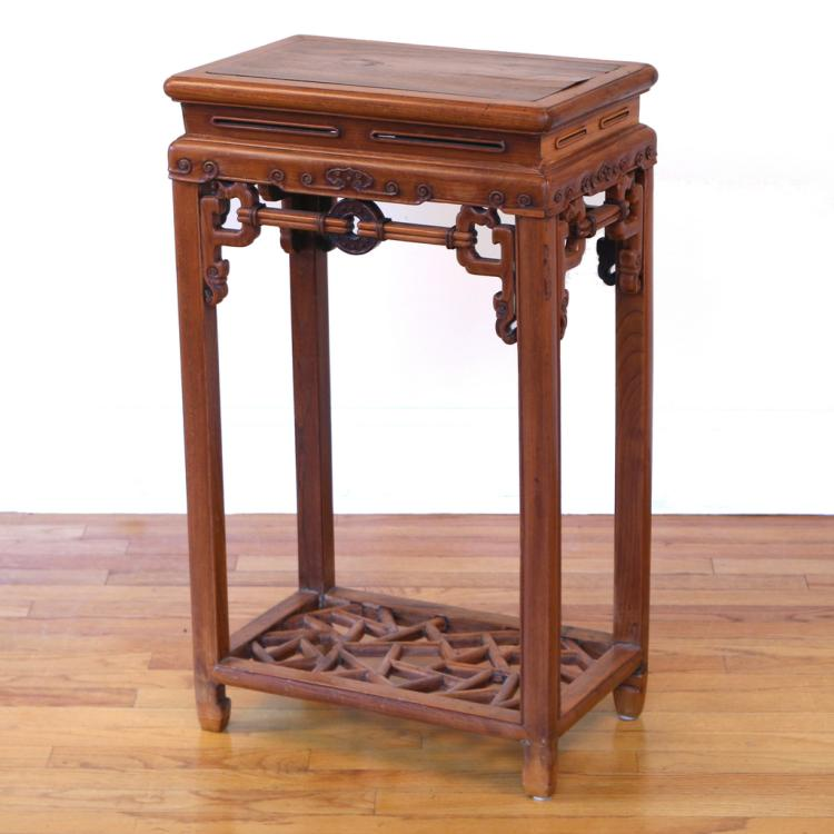 CHINESE CARVED INCENSE STAND (XIANGJI)