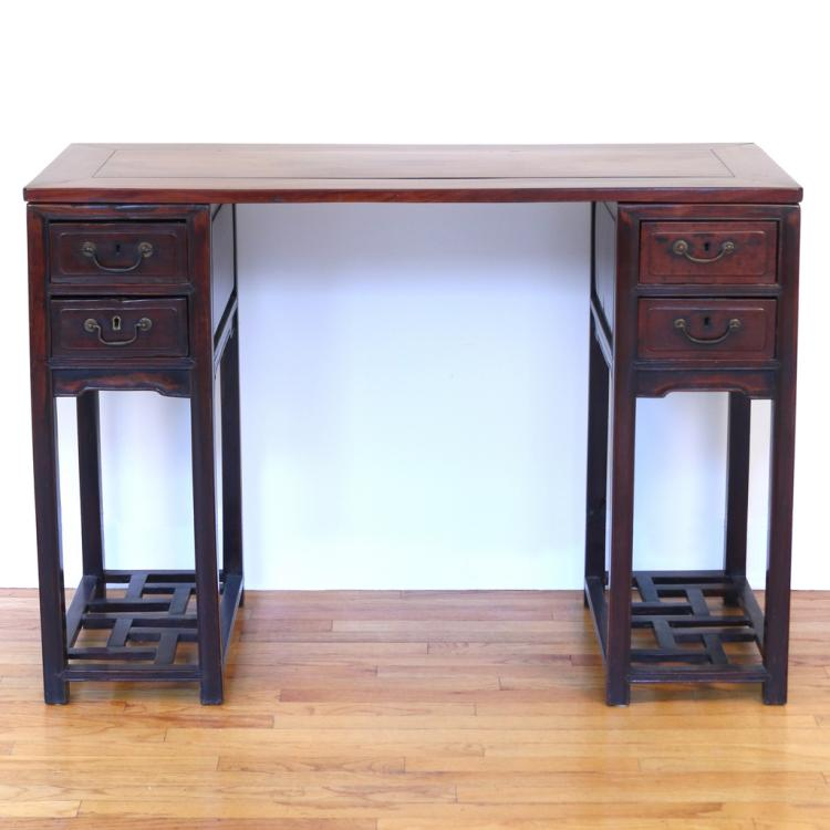 CHINESE PEDESTAL WRITING TABLE