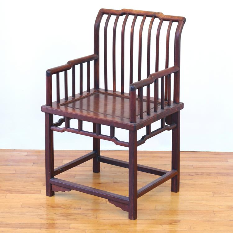CHINESE SPINDLE-BACK ARMCHAIR