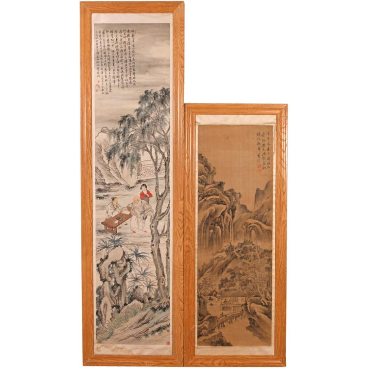 (2pc) CHINESE SCROLL PAINTINGS