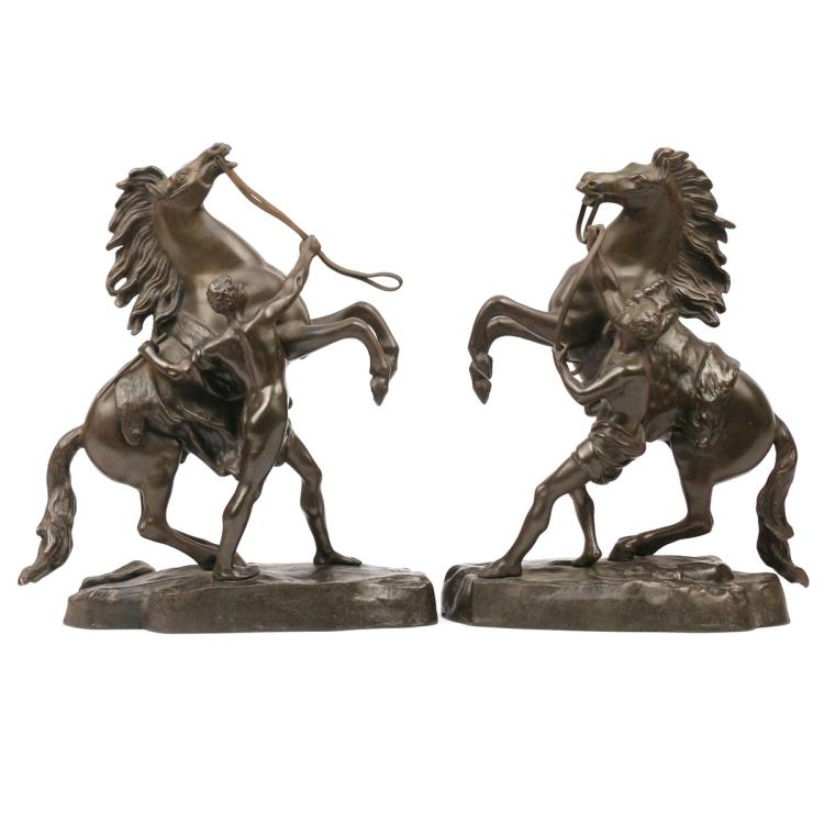 PAIR BRONZES AFTER GUILLAUME COUSTOU