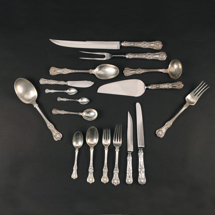 (71pc) TIFFANY STERLING SILVER FLATWARE SERVICE