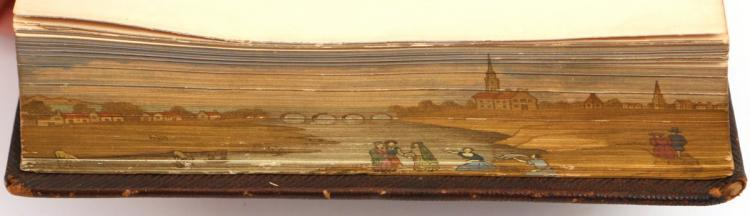 [FORE-EDGE PAINTING] MONTGOMERY - POEMS