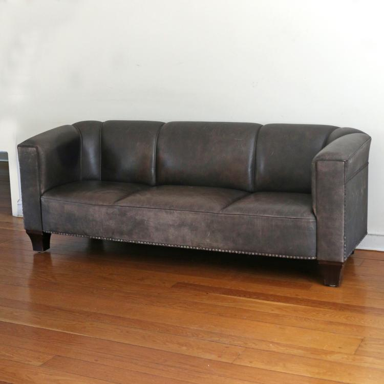 HOFFMANN FOR WITTMANN LEATHER SOFA