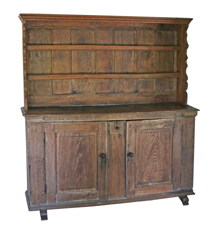 GERMAN PROVINCIAL OAK CUPBOARD