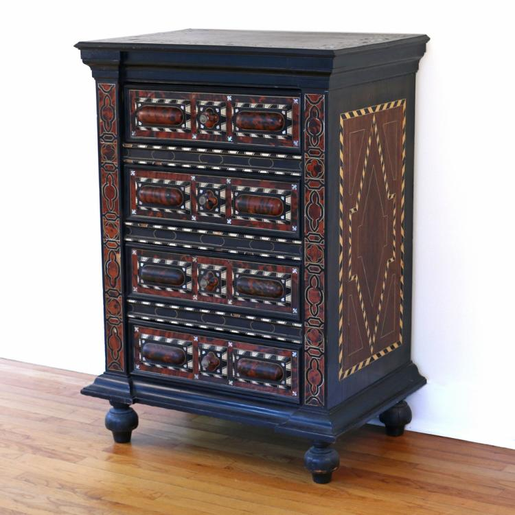 INDO-PORTUGUESE INLAID CHEST OF DRAWERS