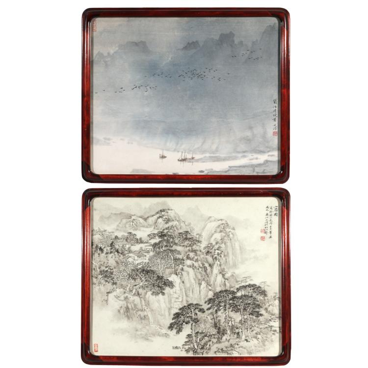 (2pc) (ATTRIB) SONG WENZHI (Chinese, 1918-1999)