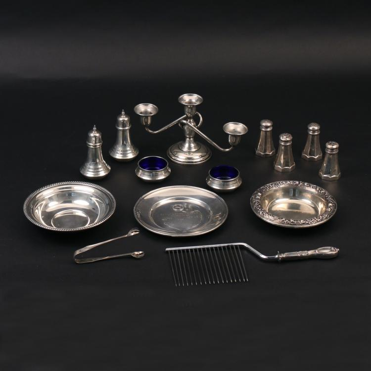 (14pc) MISC. STERLING HOLLOWARE
