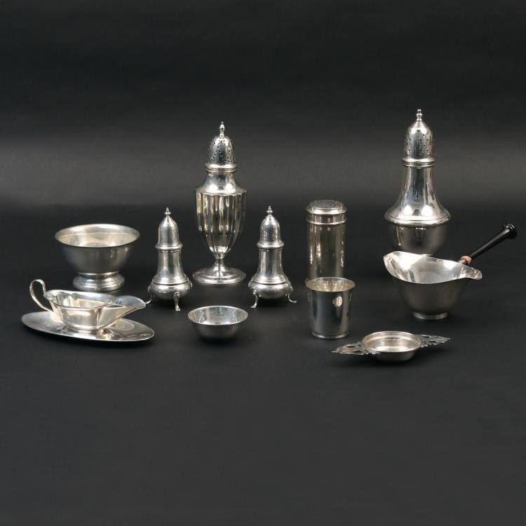 (12pc) MISC. STERLING SILVER HOLLOWARE
