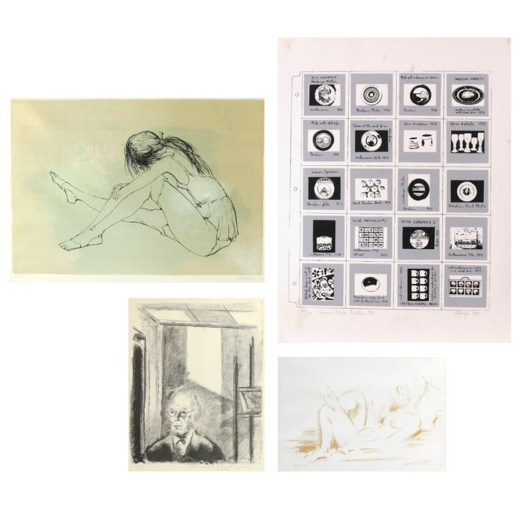 (4pc) MODERNIST LITHOGRAPHS