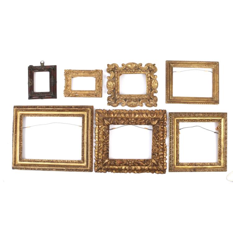 (7pc) FINE GILT-CARVED FRAMES