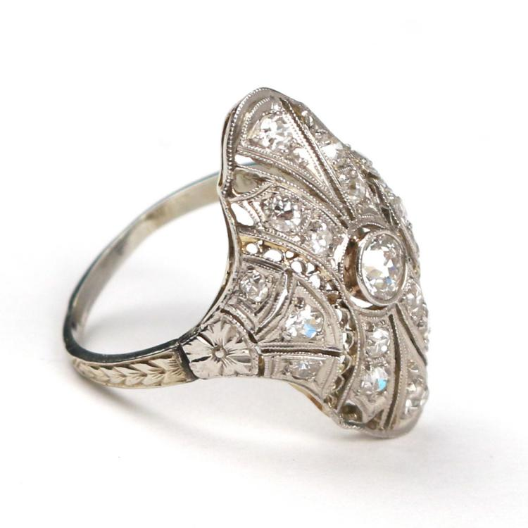 LADY'S EDWARDIAN COCKTAIL RING