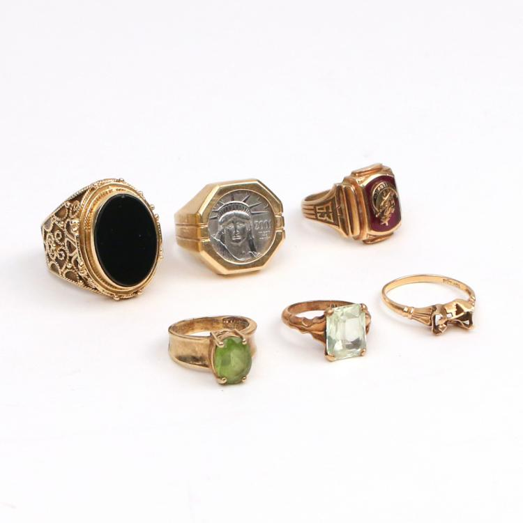 (6pc) GOLD RINGS