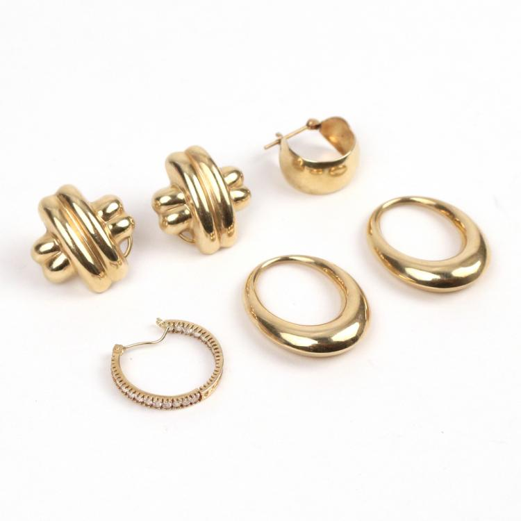 (6pc) GOLD EARRINGS