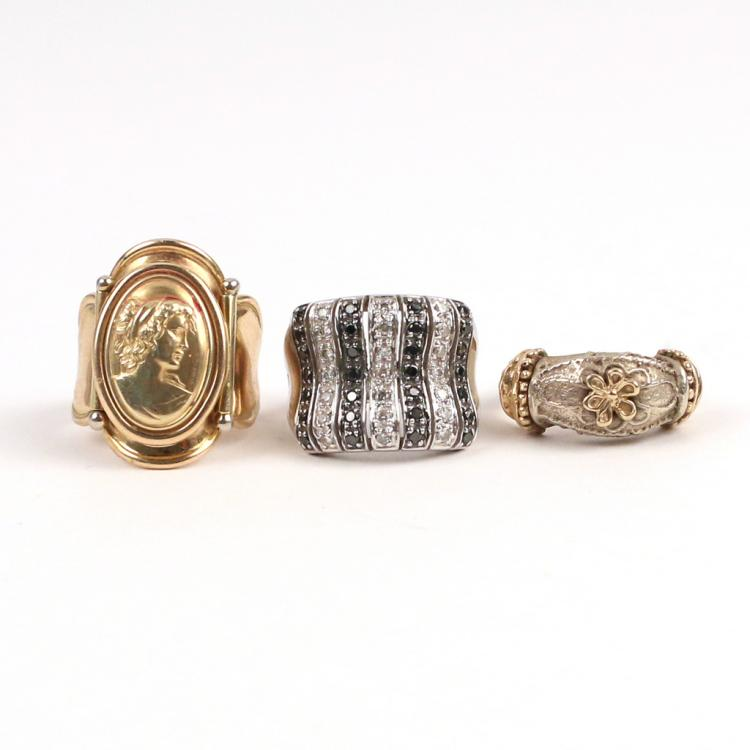 (3pc) 14k GOLD RINGS