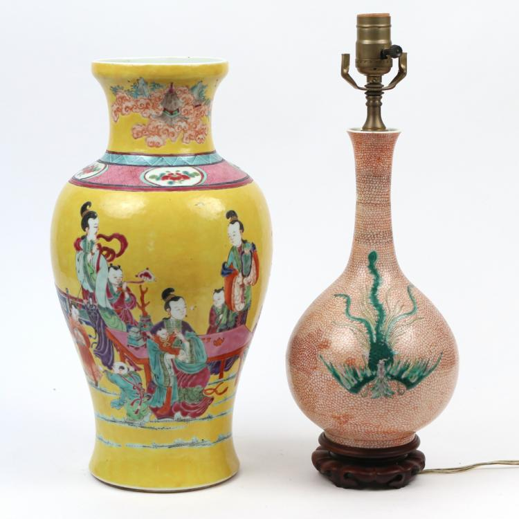 (2pc) CHINESE PORCELAIN VASES