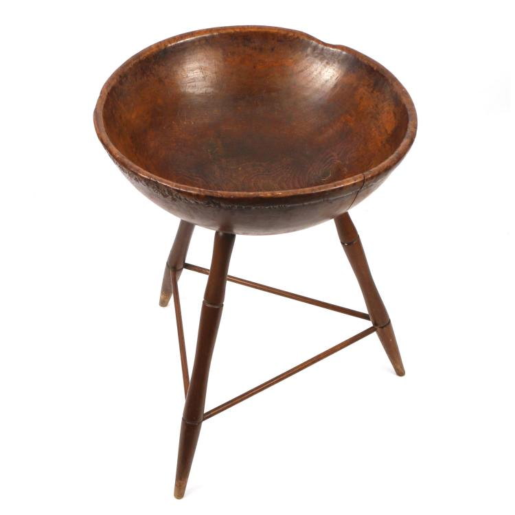 EARLY BURLWOOD MIXING BOWL ON STAND