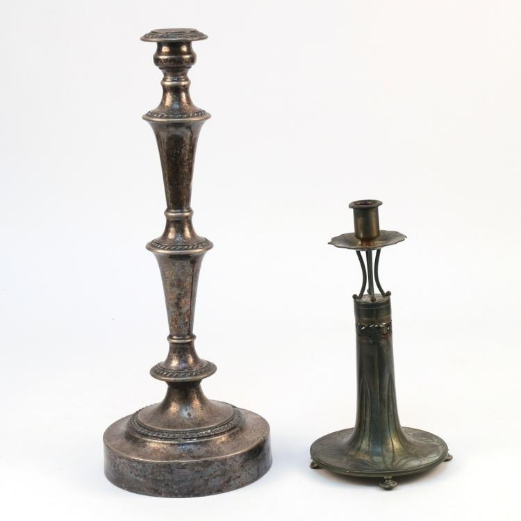 (2pc) SILVER PLATED CANDLESTICKS
