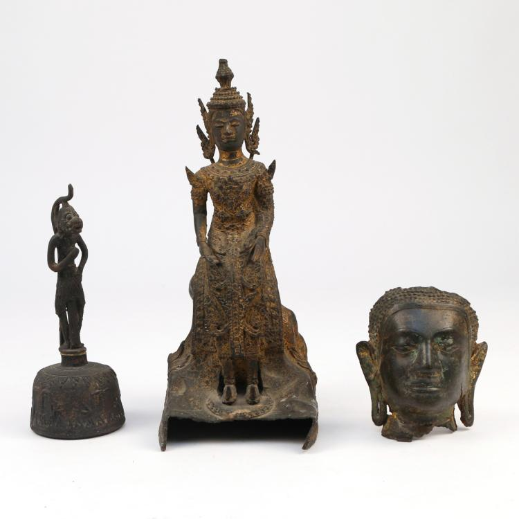 (3pc) BUDDHIST BRONZE ITEMS