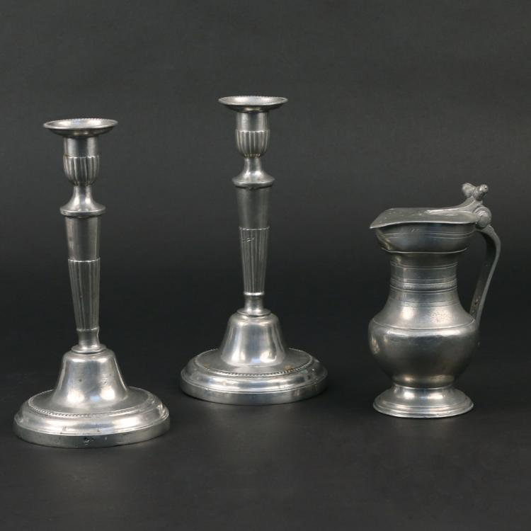 (3pc) ASSORTED PEWTER