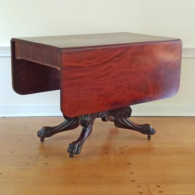 EMPIRE CARVED MAHOGANY SOFA TABLE
