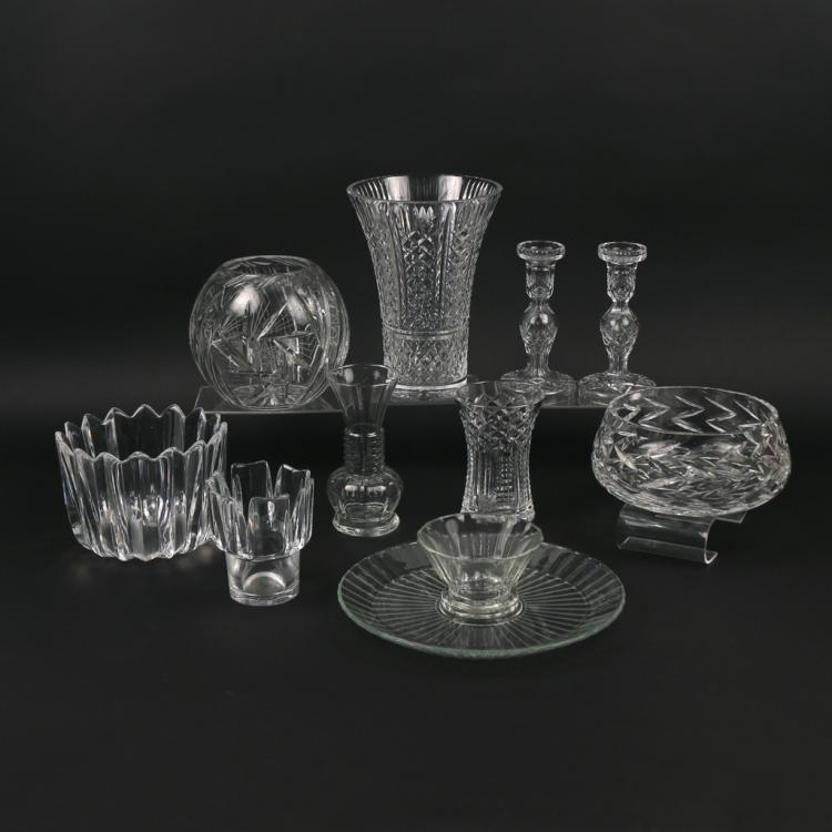(11pc) MISC. CRYSTAL AND GLASS